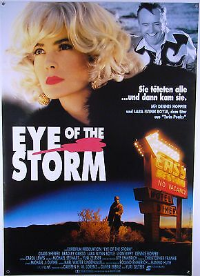 Eye Of The Storm Dennis Hopper, Lara Flynn Boyle - Filmplakat Din A1 (gerollt)