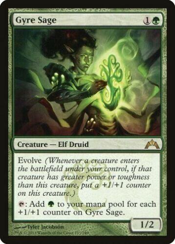 Gatecrash *Rare Druid Elf Evolve NM* MTG 1x GYRE SAGE