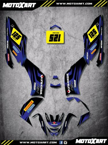 Yamaha RAPTOR 125 2010 QUAD ATV Full custom graphics kit THUNDER STYLE