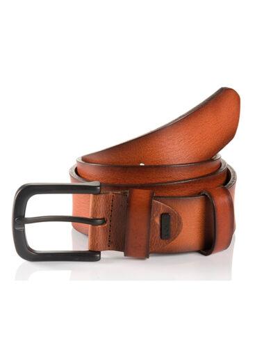 Tan Monti Mens Dallas Casual Leather Belt