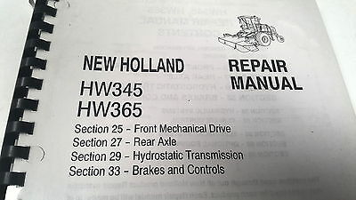 Manuals Farming & Agriculture 2005 New Holland Hw345 Hw365 Tractor Factory Service Manual