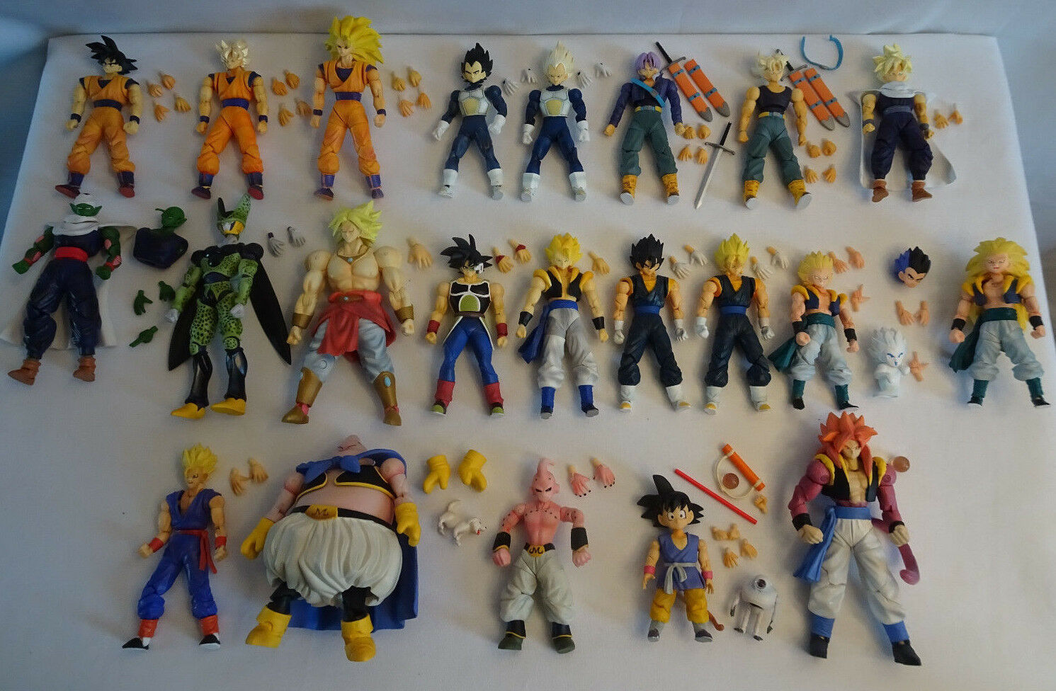 Dragonball Z DBGT - Lot of 22 DBZ Hybrid Action Figures 2007 Bandai RARE