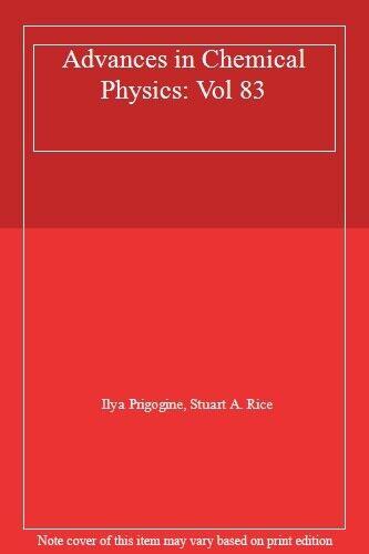 Advances in Chemical Physics: Vol 83, Prigogine, Rice 9780471540182 New+=