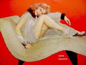 Anne-Francis-1953-Vintage-Pinup-Litho-Mamie-Van-Doren-Mona-Knox-Hughes-Photo-COA