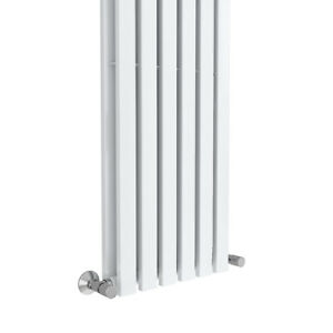 Vertical Column Designer Radiator Rectangle Flat Panel Double White 1800x480mm
