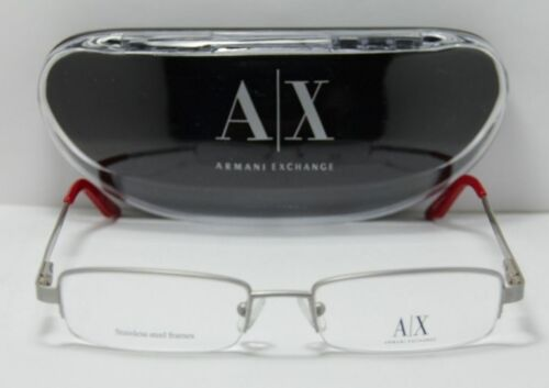 NEW ARMANI EXCHANGE EYEGLASSES AX 101 0FS4  PALLADIUM RIMLESS FRAME 5117135