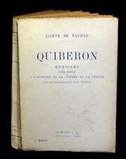 [BRETAGNE MORBIHAN VENDEE CHOUANNERIE] VAUBAN - Quiberon.