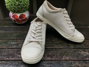 74f59d082dc Details about Ugg Taya Cream Wool Lined Canvas Sneaker Shoes