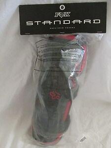 Brand-New-Fox-Racing-Standard-Adult-Knee-Shin-Guard-Armor-Protector-Red-amp-Black