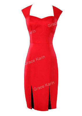 HOT CHEAP~Vintage Style 50s Pencil Wiggle Pinup BODYCON Office Dress