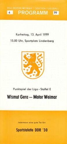 DDR-Liga 78/79 BSG Moteur Weimar - BSG Bismuth Gera 13.04.1979