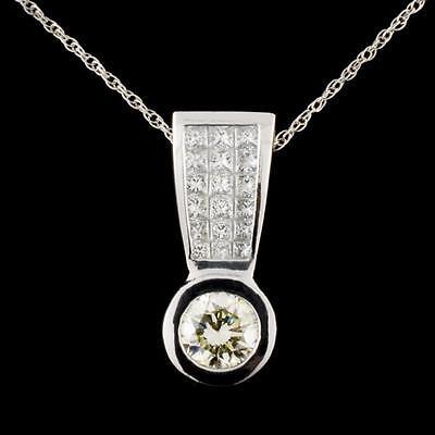 10. Platinum 1.64ctw Diamond Pendant Lot 10