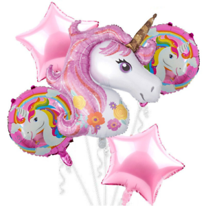 5PC-Unicorn-Foil-Balloons-Baby-Shower-Birthday-Party-Decoration-Helium-Balloon