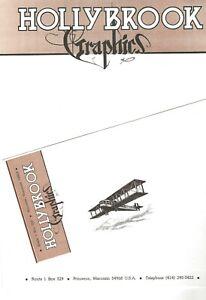 HOLLYBROOK-GRAPHICS-1980-KITCHEN-SINK-PRESS-STATIONERY-LETTERHEAD-amp-ENVELOPE