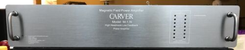 CARVER M-1.5 amp Faceplate * Updated /& Improved Grey with Handles and Hrdw
