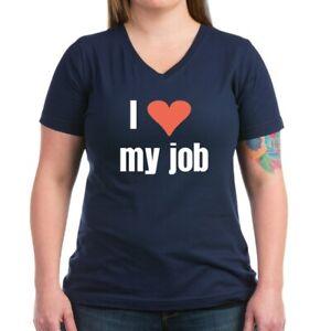 I Love Heart My Job Ladies T-Shirt