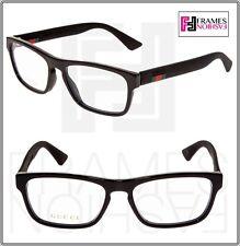 f179b7a029 GUCCI 0174 Black Square STRIPE RX Eyeglasses Optical Frame 54mm GG0174O  Unisex