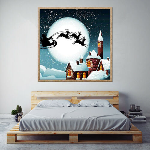 5D Diy Diamond Painting Embroidery Cross Stitch Christmas Decor Mosaic Picture