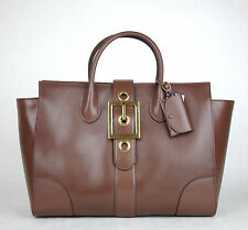 45a8f5e673c  2950 New Gucci Lady Buckle Leather Top Handle Bag Raddish Brown 323650 5405