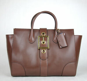 72d0e839abb  2950 New Gucci Lady Buckle Leather Top Handle Bag Raddish Brown ...