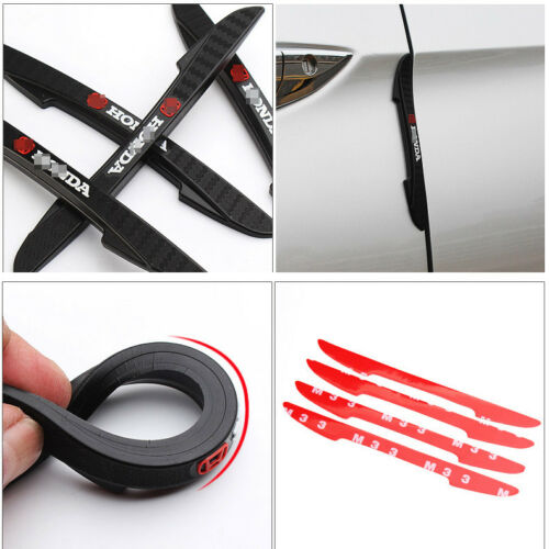 For Volkswagen Polo Car Side Door Edge Guard Bumper Trim Protector Stickers 4pcs