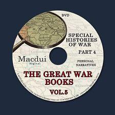 The Great War books Vol.5 Part 4 WW1 Personal Narratives 170 PDF 1 DVD World War