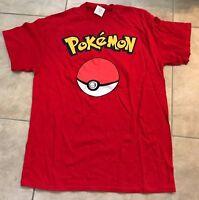 Nintendo Pokemon Pokeball Unisex Red T-shirt Adult Xl Extra Large W/ Tag