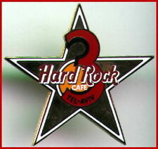 "Hard Rock Cafe TEL AVIV 1996 3rd Anniversary PIN Gold STAR w/ Red ""3"" HRC #9707"