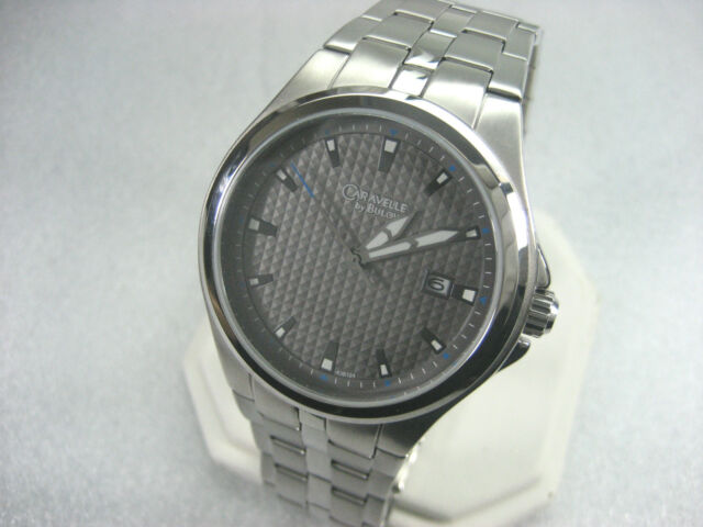 a8b1a603f BULOVA CARAVELLE 43B124 MEN'S CASUAL WATCH STAINLESS STEEL GRAY DIAL  DATE/ANALOG