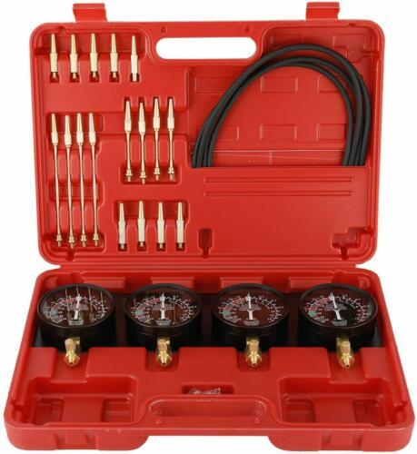 Motorcycle Carburetor Synchronizer and Adjustment Kit Fuel Vacuum Gauge Tool Set