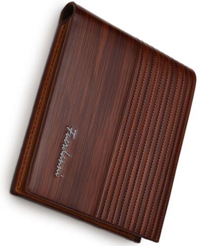 portefeuille homme haute qualité cuir très belle apparence vintage bleu marron..