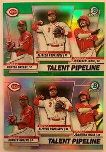 Cincinnati-Reds-Talent-Pipeline-2020-Bowman-Chrome-Lot-Green-Refractor-99
