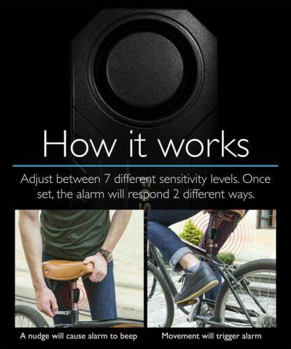 Wireless Anti-Theft Vibration Motorcycle Bike Security Alarm Remote US Stock