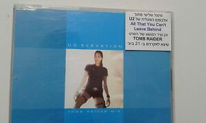 U2 elevation TOMB RAIDER MIX  RARE  ISRAELI  PROMO SINGLE 1TR Withdrawn CD