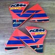 Used KTM EXC radiator spoilers One Industries graphics 2000-2002
