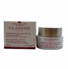 CLARINS VITAL LIGHT DAY SPF15 ANTI-AGEING CREAM (ALL SKIN) 50ML / 1.7OZ. NEW(T)