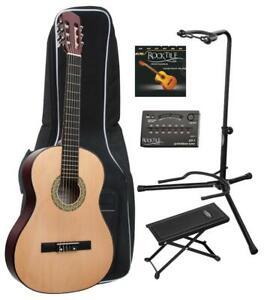 4-4-Konzertgitarre-Klassikgitarre-Akustikgitarre-Schuelergitarre-Einsteiger-Set