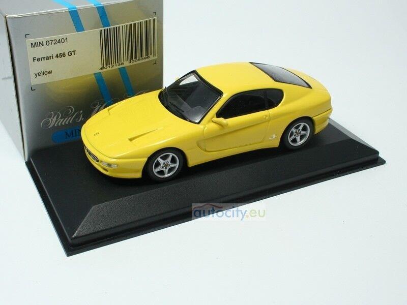 MINICHAMPS FERRARI 456 GT GT GT YELLOW MIN072401 74178a