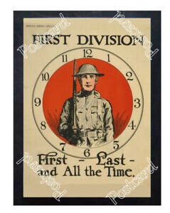 Historic-WWI-Recrutiment-Poster-First-Division-First-Postcard
