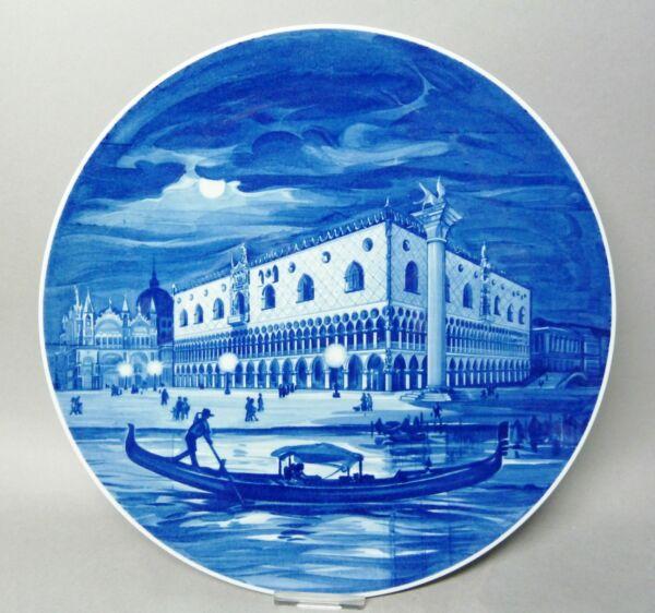 (g4969) Meissen Teller, Darstellung ' Venedig/dogenpalast ', 1.wahl, D=25,7cm Perfekte Verarbeitung