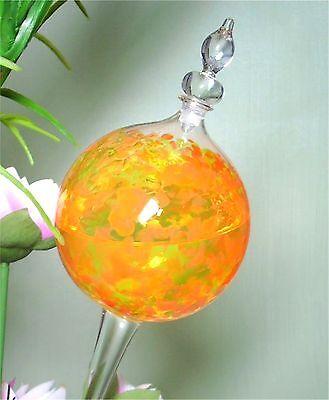 2 Stück Durstkugel orange mit Design Glas Stopfen Durstkugeln Top Qualität !
