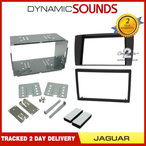 CT23JG01 Doppel Din Dunkelgrau Oberschale Adapter Satz für Jaguar S-TYPE