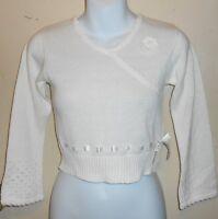 Healthtex Girls V-neck Long Sleeve Knit Sweater Top White Six (6)