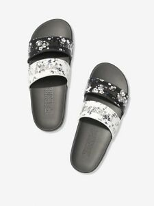 b2dbc0d58 VS Victorias Secret Pink Double Strap Slide Sandal Slipper Flip Flop ...