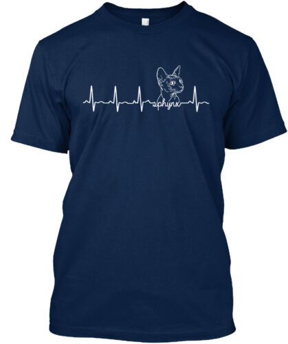 Comfy SPHYNX CAT Heartbeat-Standard Unisexe T-shirt Standard Unisexe T-Shirt