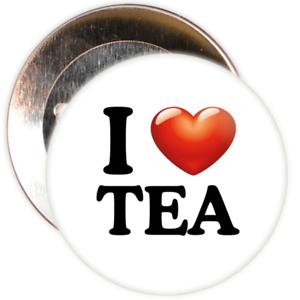 25mm Pin Badge I Love Tea Badge Various Pack Sizes
