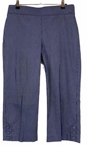 Regatta-Womens-Purple-Striped-Capri-Pants-Size-10-W29-L20