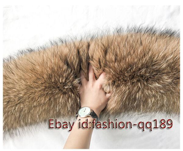 Top Qualität Natur Waschbär Kragen Pelzkragen Schal Trim für jacke Mantel Kapuze