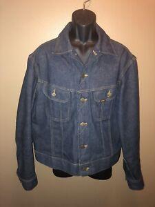Vintage-70s-LEE-Riders-Sanforized-USA-Union-Made-220-J-Denim-Jean-Jacket-SIZE-48