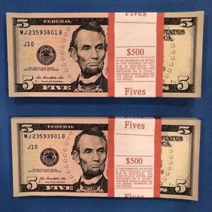 2013 Collectible 5 Crisp New Uncirculated $5 Dollar Bills